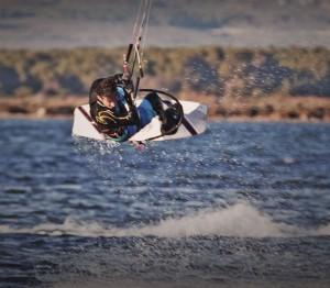 saut kite surfeur